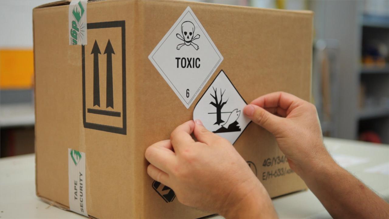 dangerous goods packaging label